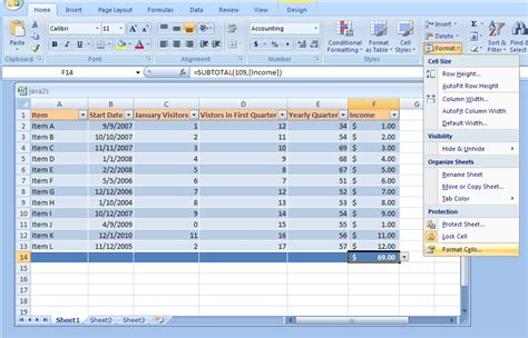 tutorial excel microsoft office 2007 hide or show formulas formula 171 formula 171 microsoft