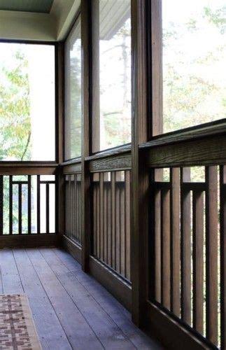 craftsman variation  vertical wood  railing deck