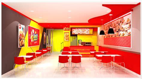 layout toko roti desain mini resto fried chicken griya booth