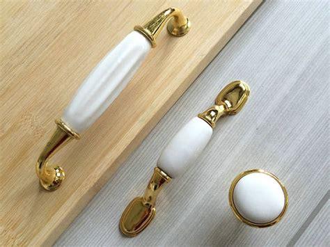 Gold Drawer Pulls by 3 5 Gold White Drawer Pull Handles Dresser Knobs