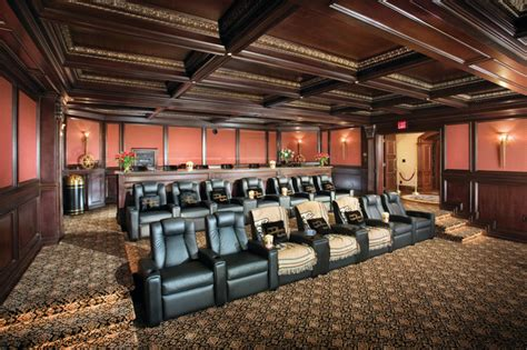 incredible huge home theater  reclining seats