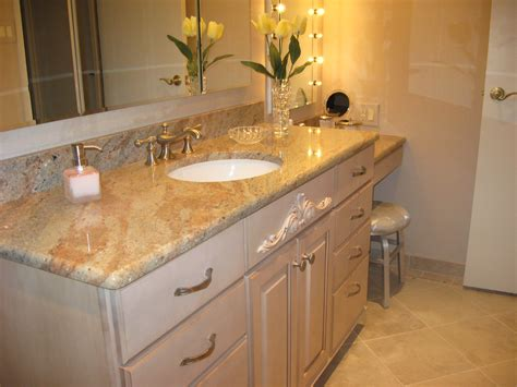 Granite Bathroom Countertops Furniture Used A Corian Solid Surface Material For