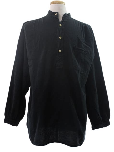 Shirt Import 7588 Retro vagabond imports eighties vintage hippie shirt 80s vagabond imports mens slightly faded black