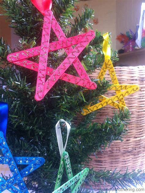 easy christmas crafts  kids craft stick stars
