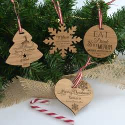 engraved custom designed wooden christmas decoration