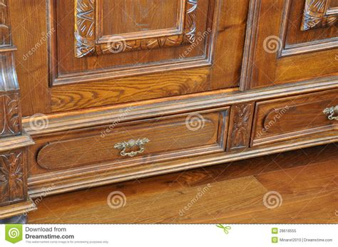 antique wardrobe with drawers royalty free stock photo