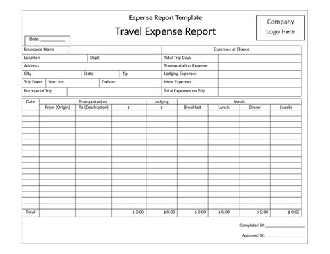 simple expense report template 2018 expense report form fillable printable pdf forms handypdf