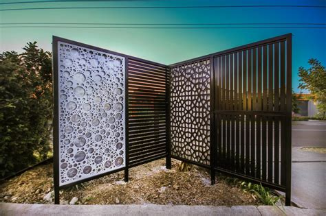 landscape privacy screens iron bark metal design