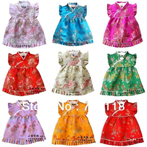 new year clothes for baby new baby dress infant silk jacquard dress boutique