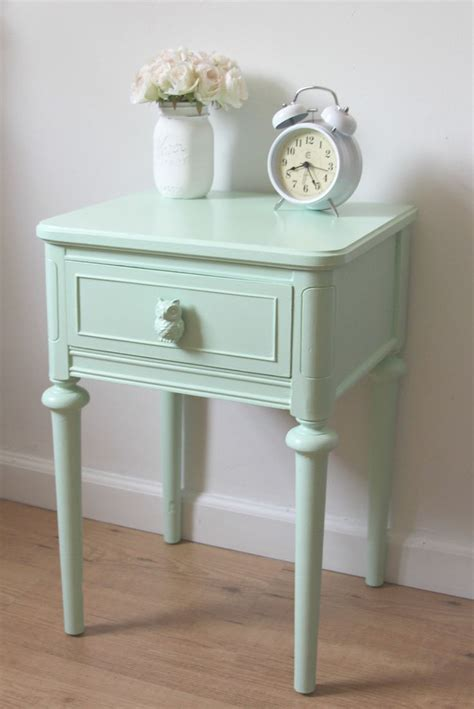 Painted Nightstands by 25 Best Ideas About Mint Green Bedding On