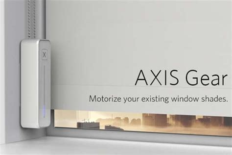 Cool House Gadgets axis gear turns existing window shades into smart window