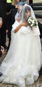 elisabetta canalis wedding dress elisabetta canalis beams as she marries brian perri in