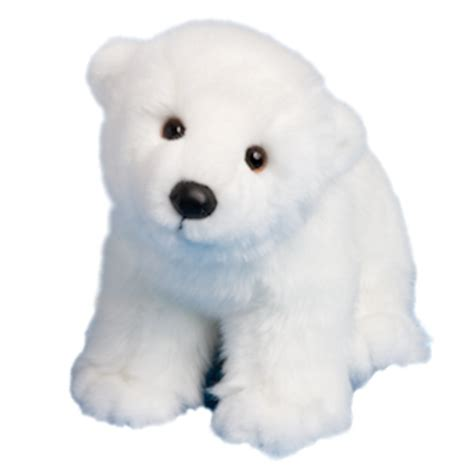 marshmallow the stuffed polar bear cub by douglas