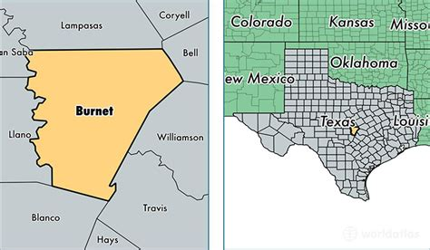 burnet texas map burnet county texas map of burnet county tx where is burnet county