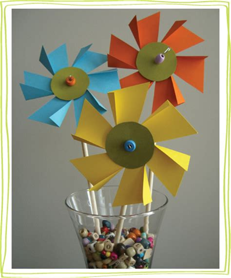 Pinwheel Paper Craft - flower pinwheel craft alpha