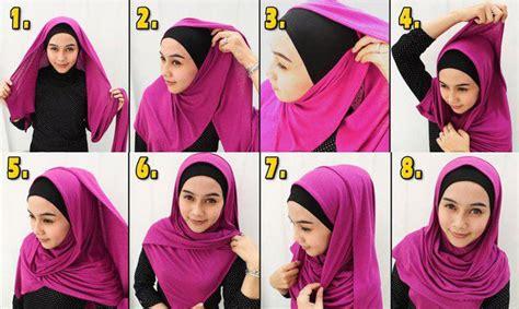 tutorial gambar dan video cara model tutorial foto gambar model jilbab pashmina untuk pesta dan