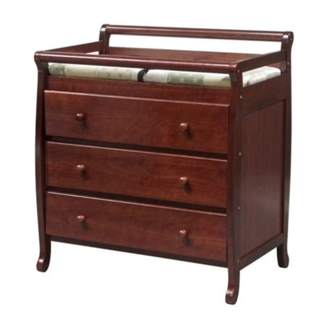 Davinci Emily Pine Wood 3 Drawer Changing Table In Cherry Changing Table Drawers
