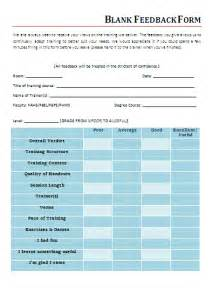 template for feedback form for blank feedback form free word s templates