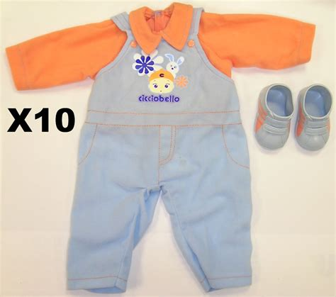 lottie doll wholesale lot of 10 new baby boys doll clothes and shoes for
