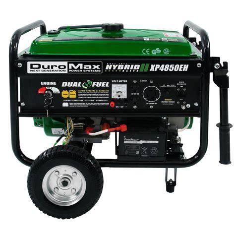 duromax xp4850eh hybrid portable dual fuel propane gas