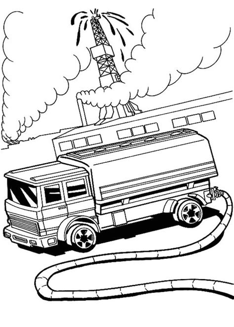 oil truck coloring page hot wheels fire fighter at oil field coloring page netart