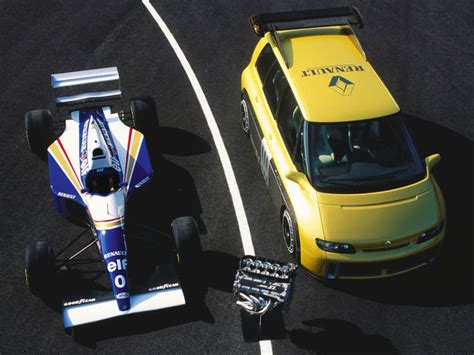 renault minivan f1 video alain prost drives an f1 powered minivan