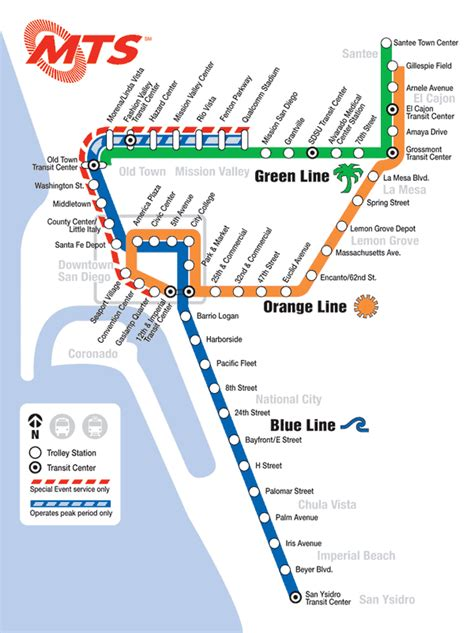 san diego trolley map images and places pictures and info march 2009