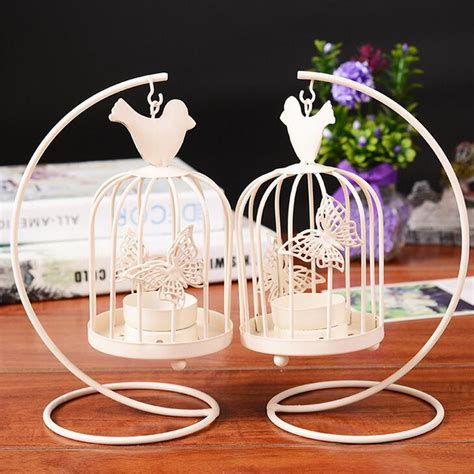 high quality home interior candles 1 retired home white birdcage butterfly candlestick romantic candle