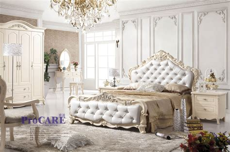 New Design White Color Luxury Classic Bedroom Set White Classic Bedroom Furniture
