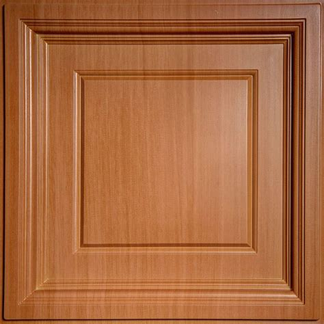 Ceilume Madison Faux Wood Caramel 2 Ft X 2 Ft Lay In Faux Wood Ceiling