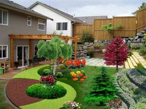 Beautiful Landscaping Small Backyard Sloping Garden Design Simple Patio Ideas For Small Backyards