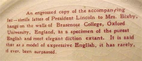 saving lincoln letter abraham lincoln s letter to mrs bixby portrait plate