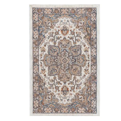 home depot accent rugs tayse rugs fairview ivory 2 ft x 3 ft accent rug fvw3302
