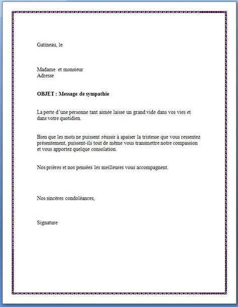 Modèles De Lettres De Condoléances Exemple De Lettre De Condoleances Gratuit Covering Letter Exle