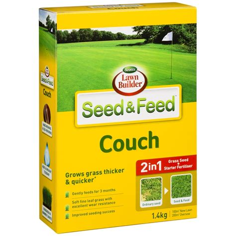 couch seed scotts lawn builder 1 4kg seed and feed couch bunnings
