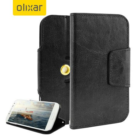 Sarung Universal 5inch olixar leather style universal rotating 5 inch phone black reviews