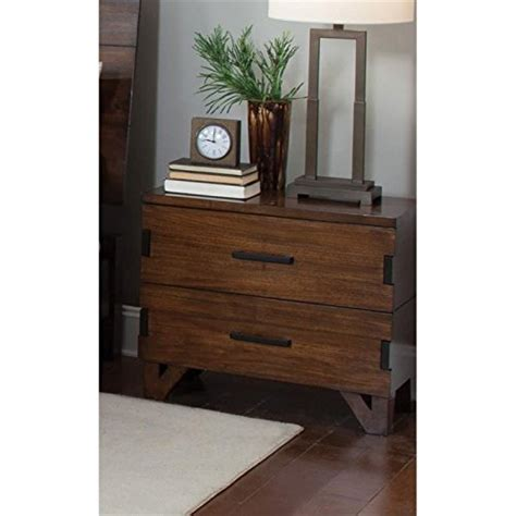 coaster lancashire two drawer nightstand with built in wood nightstands bedside tables
