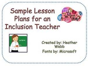 lesson plan template special education lesson plan template for special education inclusion
