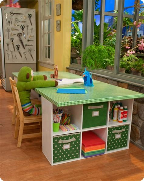 kids art table with storage 5 great craft areas for kids