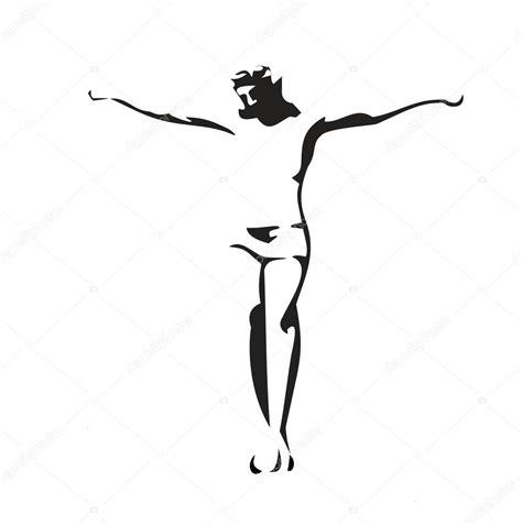 imagenes de dios blanco y negro jes 250 s cristo crucificado ilustraci 243 n de vector negro