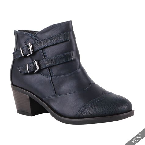 womens ankle biker boots womens brogue ankle boots buckle biker cowboy low