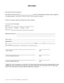loan gift letter template mortgage deposit gift letter exle gift letter sle