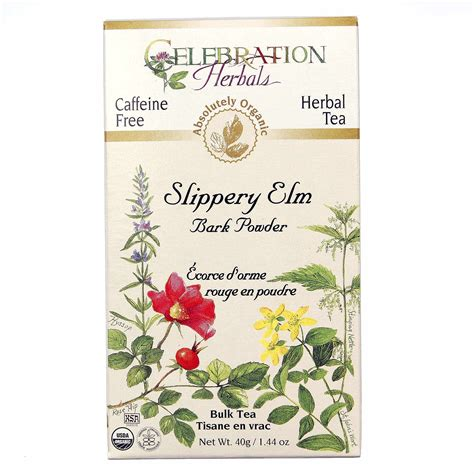 slippery elm for dogs celebration herbals herbal tea slippery elm bark 1 44 oz leaf powder