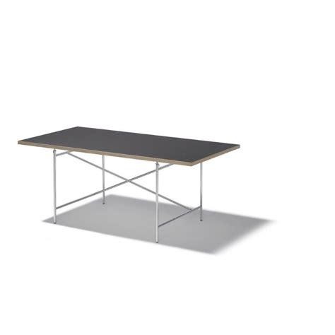 schwarze schreibtische tischplatte f 252 r eiermann 1600x 800 mm in melamin schwarz