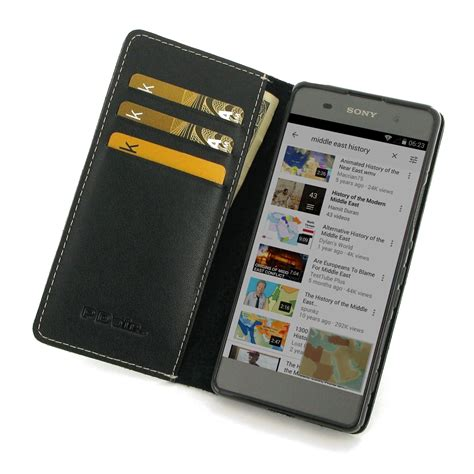 sony xperia xa leather smart flip wallet pdair