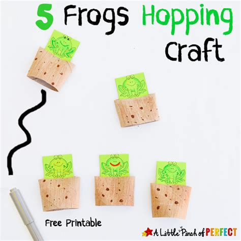 craft activities for 5 speckled frogs craft and activities