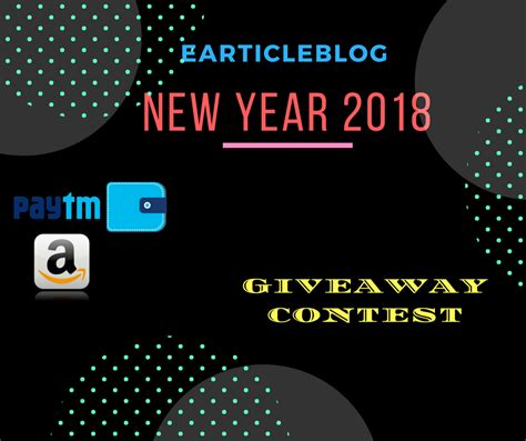 Win Our Giveaway by Earticleblog Giveaway Contest Win Rs 1000 On This New