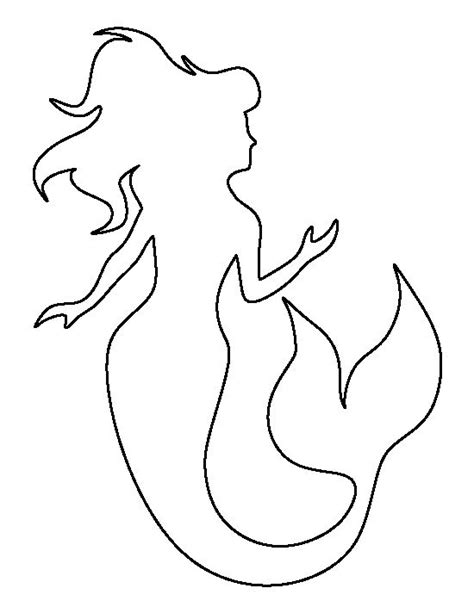 Mermaid Template mermaid pattern use the printable outline for crafts creating stencils scrapbooking and more