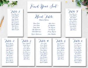 wedding seating chart template instant download