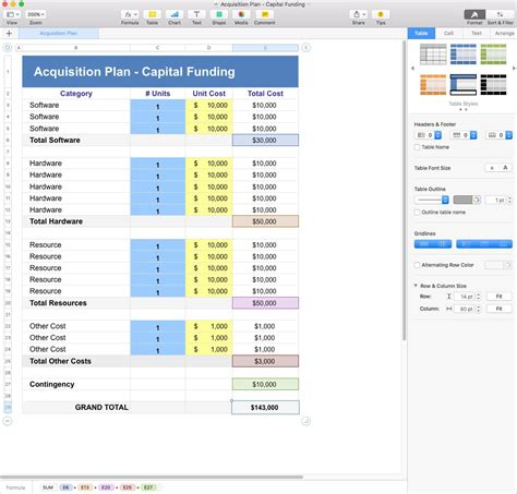 acquisition template acquisition plan apple iwork